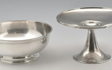 Gorham Sterling Silver Grouping, Bowl & Compote