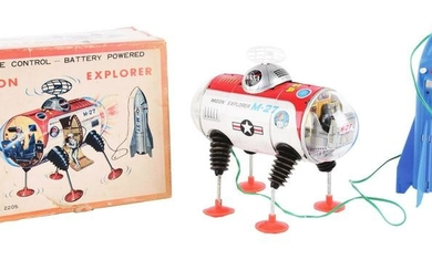 JAPANESE TIN-LITHO BATTERY OPERATED MOON EXPLORER