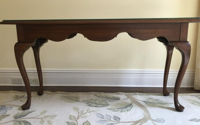 Knob Creek Queen Anne Style Cherry Console Table