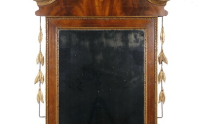 LARGE GILT BAROQUE STYLE ENTRY MIRROR