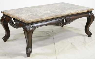 Large Patch Work Stone Top Coffee Table