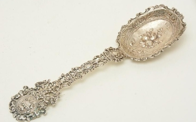 Large continental .800 silver ornate pierced decorated