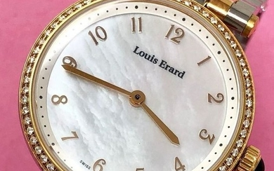Louis Erard - 66 Diamonds for 0.33 ct Romance Collection Mother of Pearl Dial Swiss Made - 11810SB44.BMA27 - Women - Brand New