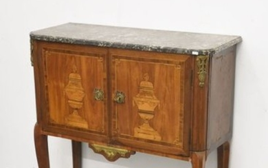 Louis XVI period marquetry sideboard with floral basin...