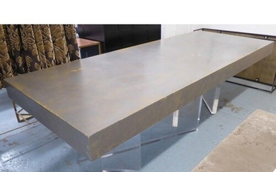 MANNER OF JEFFREY BIGELOW DINING TABLE, rectangular silver w...