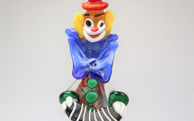 MURANO GLASS CLOWN VINTAGE.