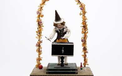 """""""Magician"""", French music automaton, early 20th Century."""