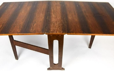 Mid Century Modern Gate Leg Dining Table