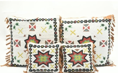 Native American Set of Four Decorative Pillows with