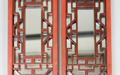 Oriental Carved & Lacquered Wooden Panels