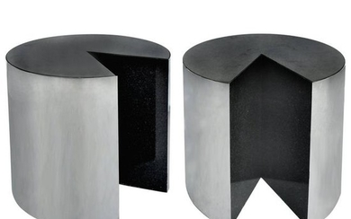 Pace Collection Stainless Steel and Granite Side