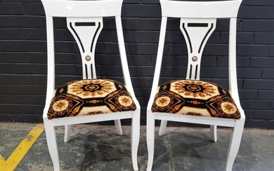 Pair of Versace Inspired Chairs (H:100 W:52cm)