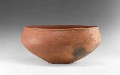 Red Burnished Pottery Bowl