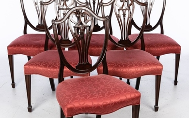 Set of 6 George III Style Shield Back Dining Chairs, 20th Century E9VDJ