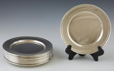 Set of Twelve Sterling Bread Plates, 20th c., by the