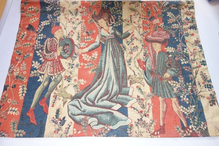 """Tapestry, """"The Nomad's Wall"""" - 140 x 160 cm - Medieval - Wool - First half 20th century"""