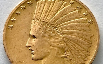 United States - 10 Dollar 1912 - Indian Head - Gold