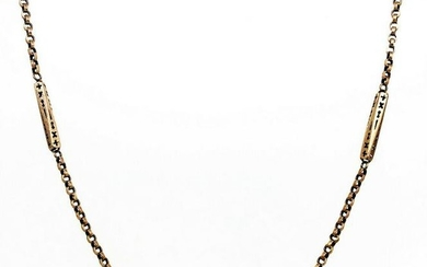 VICTORIAN 10K Rose Gold Watch Chain Necklace