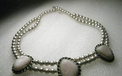 Vintage Sterling Silver Chunky Southwestern Mother of