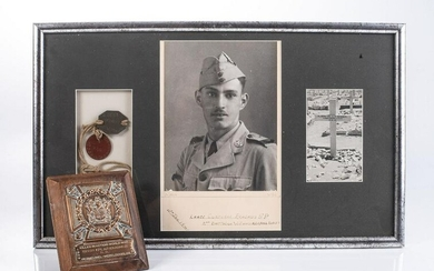 WWII SOUTH AFRICAN SOLDIER KILLED IN ACTION EL ALAMEIN