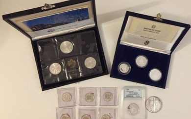 World - Lot various coins 1952/1996 (total 10 pieces)- Silver