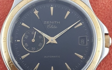 Zenith - Elite18k Yellow Gold & Stainless Steel, Automatic- Ref: 0030 682 - Men - 2000-2010
