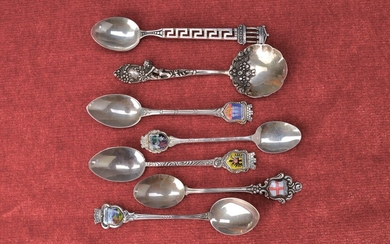 large convolute of Souvenir spoons, 20th c.,...