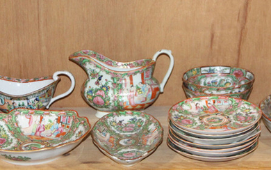 (lot of 7) A group Chinese Canton Famillie-rose dinner set