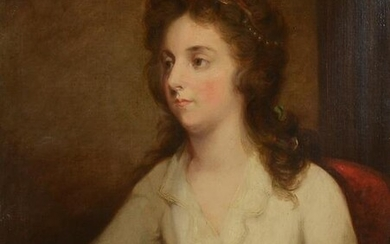 19TH CENTURY ENGLISH? PORTRAIT PAINTING YOUNG GIRL