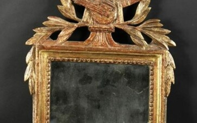 "A 19th Century French Carved Frame as a Mirror. 11.5"" x"