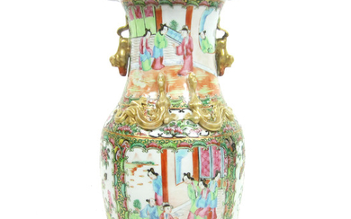 A Canton export famille rose vase