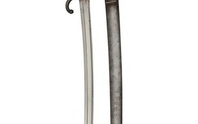 A FRENCH MILITARY CHASSEPOT SWORD BAYONET M1866
