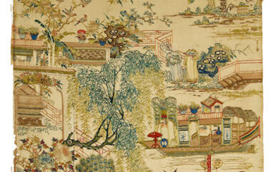 A Finely Embroidered Textile panel