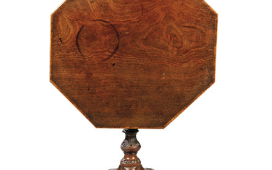A GEORGE III MAHOGANY OCTAGONAL TILT-TOP TRIPOD TABLE, CIRCA 1760