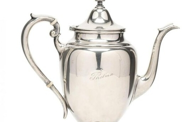 "A Gorham ""Puritan"" Sterling Silver Coffee Pot"
