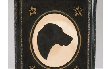 A Painted Paper Silhouette of a Dog
