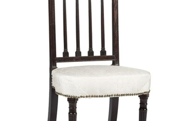 A Philadelphia Federal Carved Mahogany Side Chair