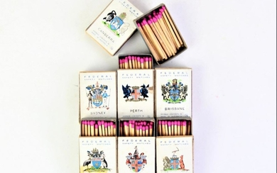 A Set of Australian Federal Matchboxes to include all capital cities
