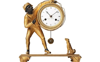 A Swedish Empire early 19th century mantel clock by J. E. Callerström, master 1817.