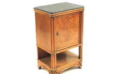 A mahogany bedside table