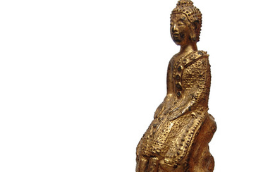 A nice gilded bronze figure of Buddha, 19th Century