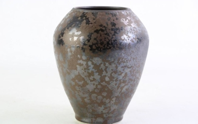 A studio pottery vase signed R Cameron to base, 17cm in height