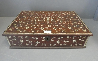 Anglo Indian box with semi fitted interior extensively decor...