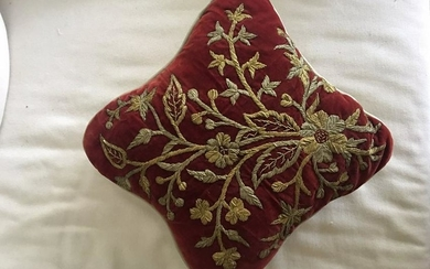 Antique Malay Tekal panel embroidered with gold thread