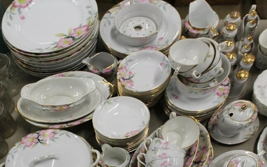 Approx 100 pieces of Noritake Pink Floral China