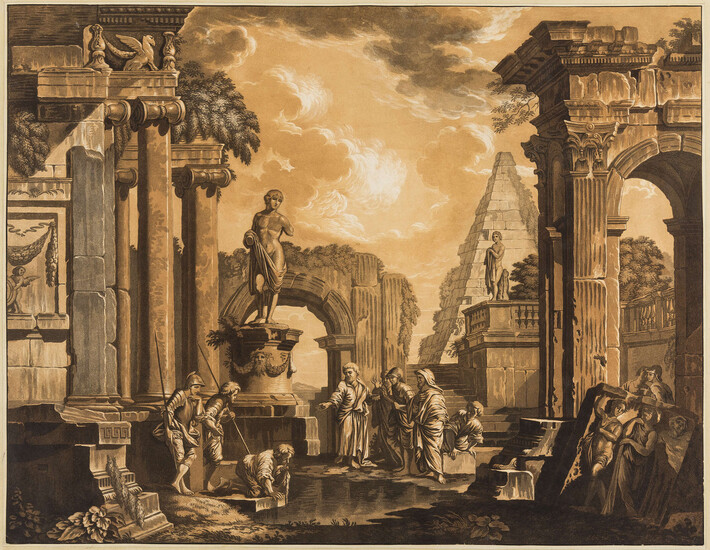 Architecture.- Panini (Giovanni Paolo, 1691-1765), after. Two classical capriccios, a pair, [1788] (2)