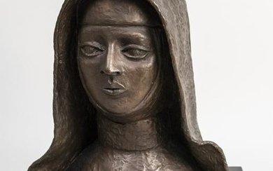 Bronze Bust of a Nun