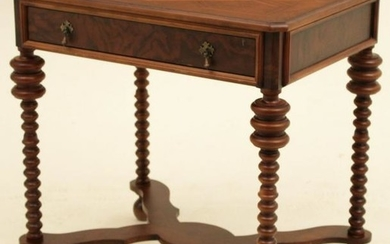 CONTINENTAL STYLE WALNUT ONE DRAWER TABLE