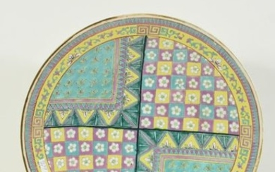 Chinese plate from the 19th century (Ø 37cm)...