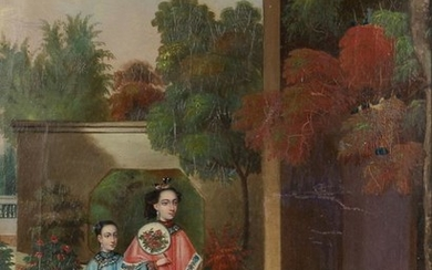 Chinese school (mid 19th century) - THREE FIGURES IN...